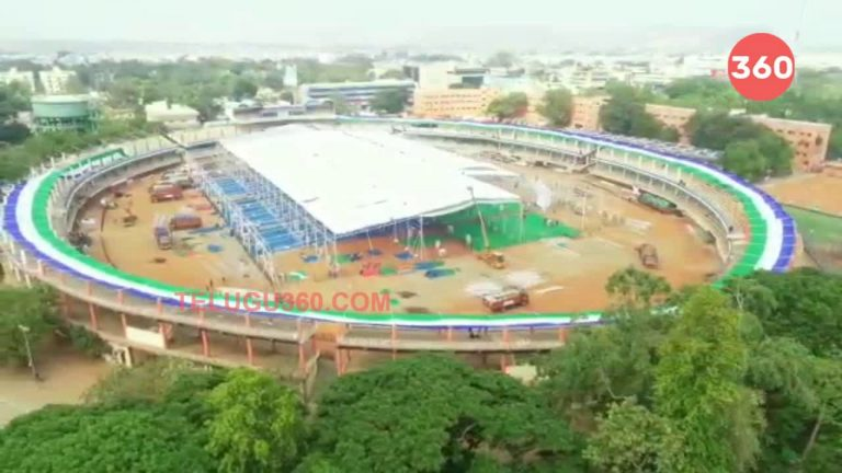 Video: Arragements in Indira Gandhi Stadium For Jagan Swearing Ceremony