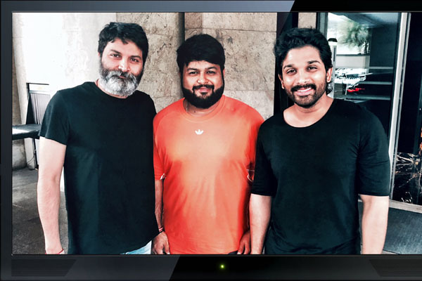 SS Thaman starts composing for #AA19