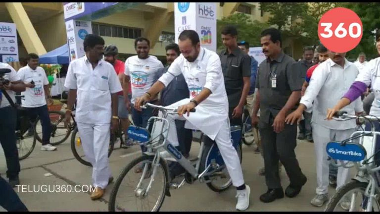 Video: Central Minister Kishan Reddy Attends Bicycle Day Celebrations In Hyderabad
