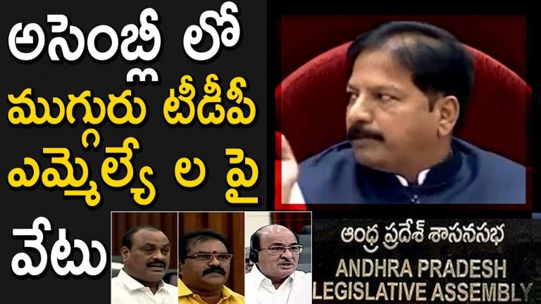 Video: 3 TDP MLAs suspended from AP Assembly