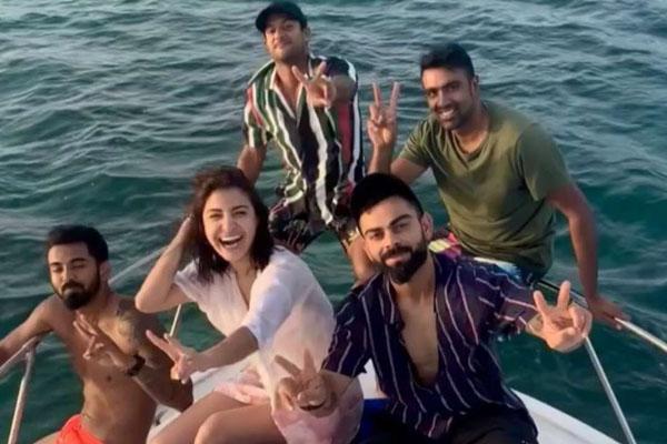 Endless blues: Kohli & co cruise Atlantic with Anushka