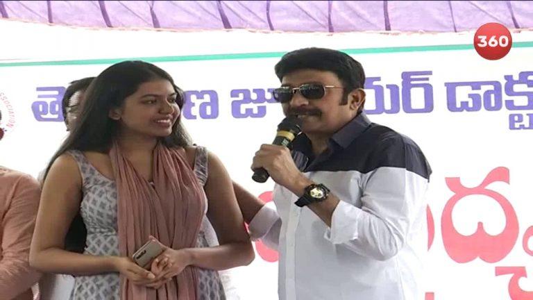 Video: Rajasekhar Supports Junior Doctors Protest