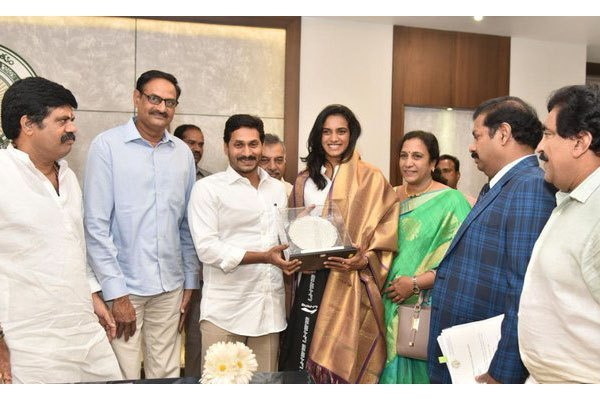 Jagan gifts 5 acres for Sindhu academy in Vizag