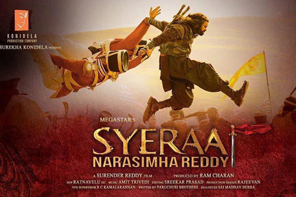 Syeraa Narasimha Reddy (all versions) 12 days Worldwide Collections