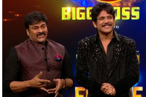 Mega Star Chiranjeevi mesmerized in Bigg boss Finale