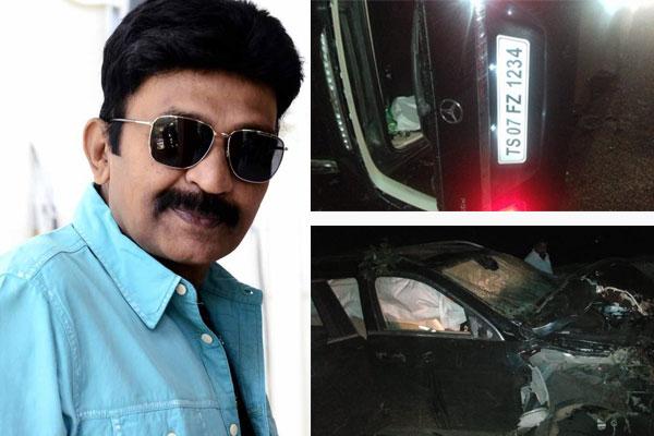 Rajasekhar injured in a road mishap