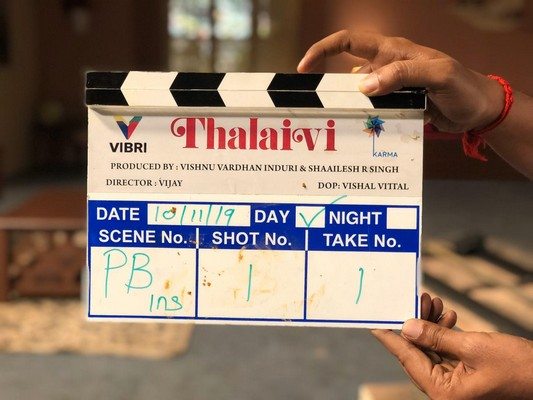 Much-awaited biopic, Thalaivi commences shoot