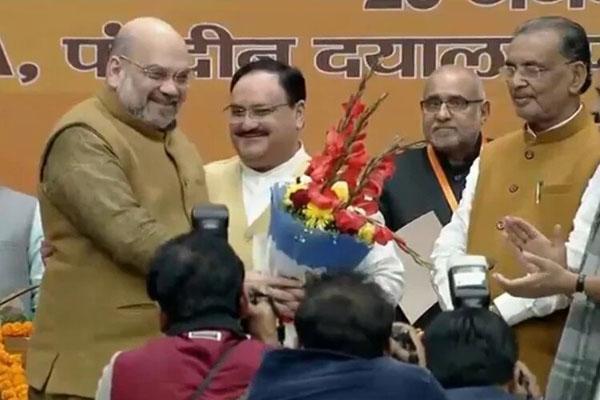JP Nadda replaces Amit Shah as BJP chief