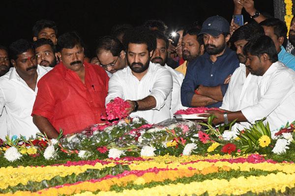 Jr NTR – Kalyan Ram at NTR Ghat
