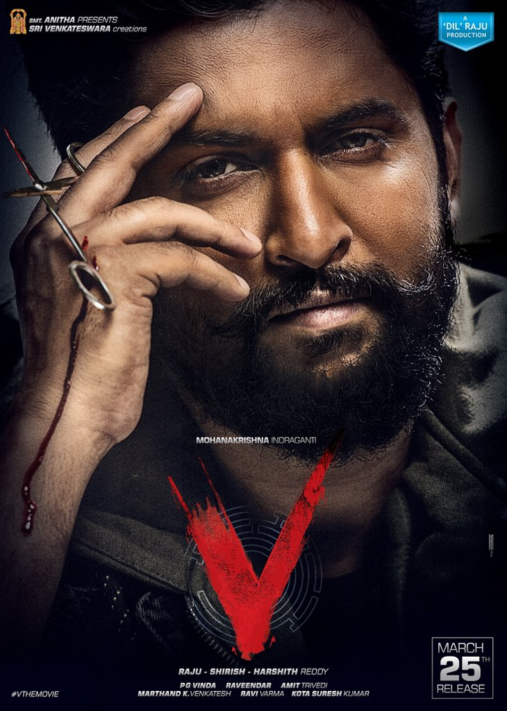 Nani First look from V The movie