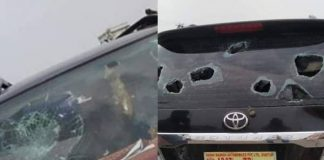 YCP MLA car stoned in Capital protests