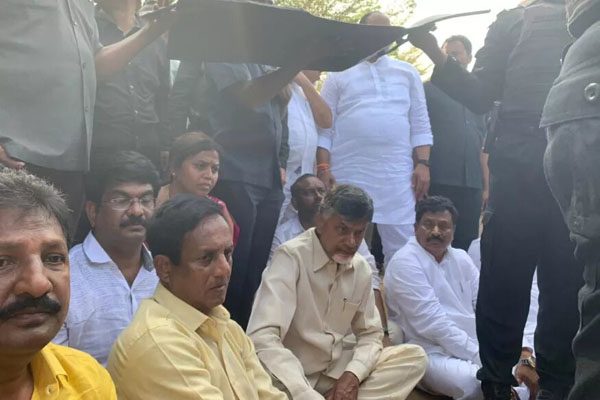 Naidu arrested and Vizag Yatra blocked