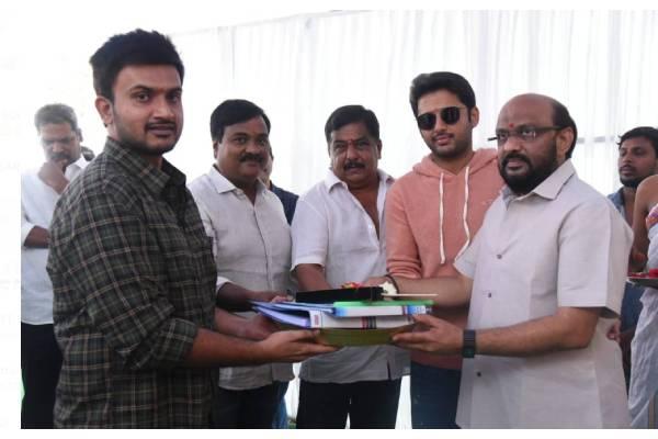 Nithin, Merlapaka Gandhi Film Launched