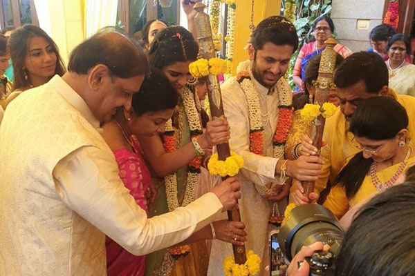 Nithiin gets engaged to Shalini