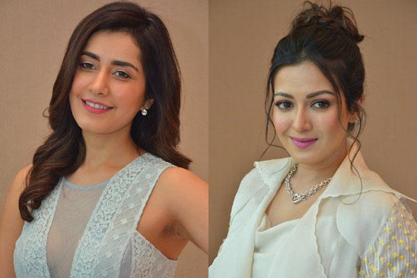 Rashi Khanna and Catherine Tresa at WFL Trailer Launch
