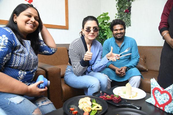 Samantha Launches Healthy Way Restaurant at Madhapur