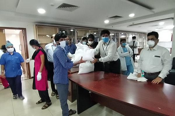 NBK Distributed Commodities At Basavatarakam Cancer Hospital