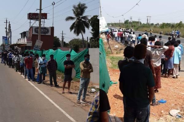 Lockdown violation: Heavy queues outside liquor stores in AP