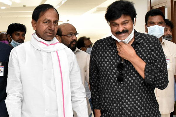 Chiranjeevi, Rajamouli thank KCR on film shootings