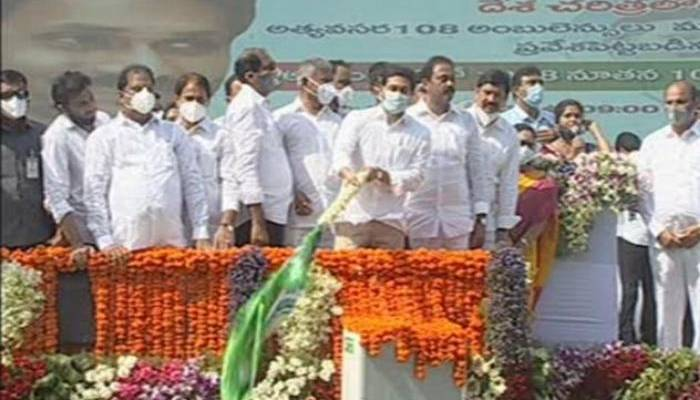 Showtime: Jagan flags off 1,088 new 104, 108 ambulances