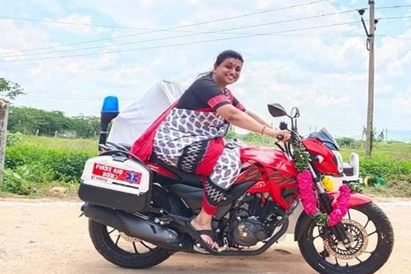 Roja rides bike ambulances, draws criticism
