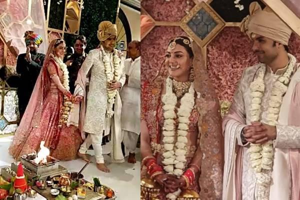 Kajal ties the knot in traditional Punjabi and Kashmiri style