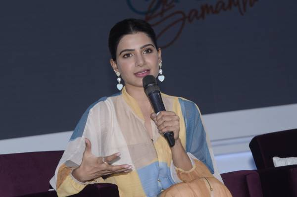 Samantha at Aha press Meet