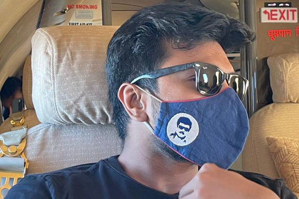 Ram Charan steps in style with a Boss Mask