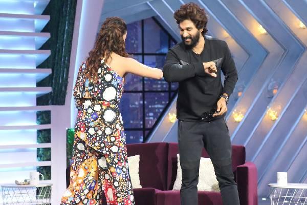 Pics – Allu Arjun and Samantha from the sets of SamJam