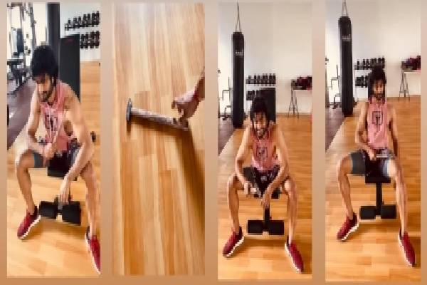 Sudheer Babu shows quirky use of hammer in the gym
