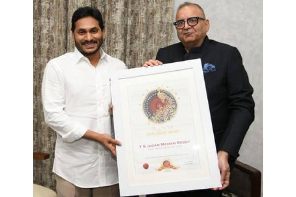 Best CM Award for Jagan for nationally unique projects