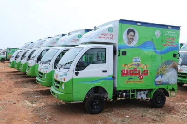 Ramesh gives colours twist to Jagan ration vehicles