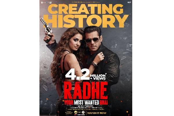 Record number of views for Salman Khan's Radhe
