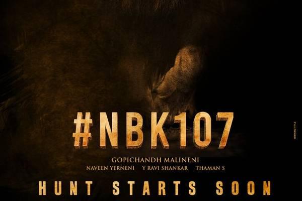 Balakrishna's 107th Film Announced