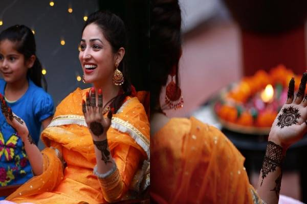 Yami Gautam shares photos from her mehendi ceremony