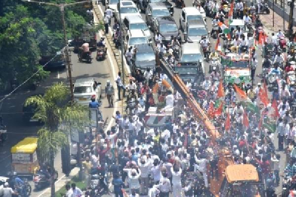 Telangana Congress chief booked for taking out rally