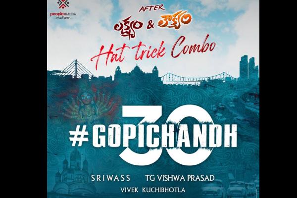 Gopichand and Sriwass to Reunite