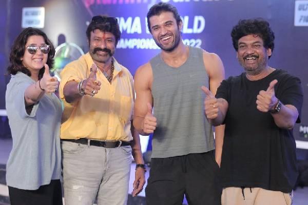 Balakrishna surprises Team Liger in Goa