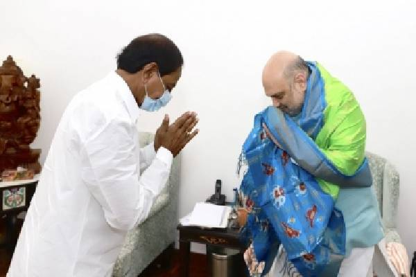 KCR urges Amit Shah to raise Telangana's IPS cadre strength