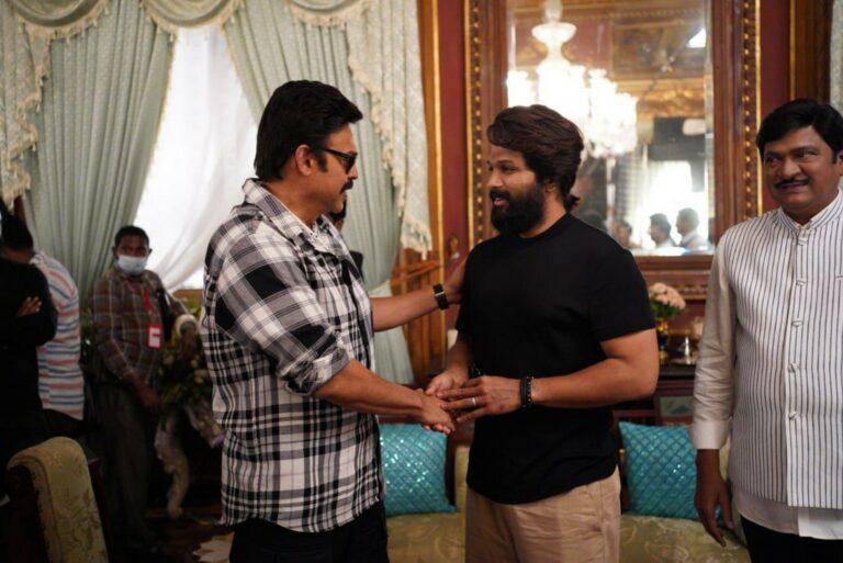 Allu Arjun visits the sets of F3