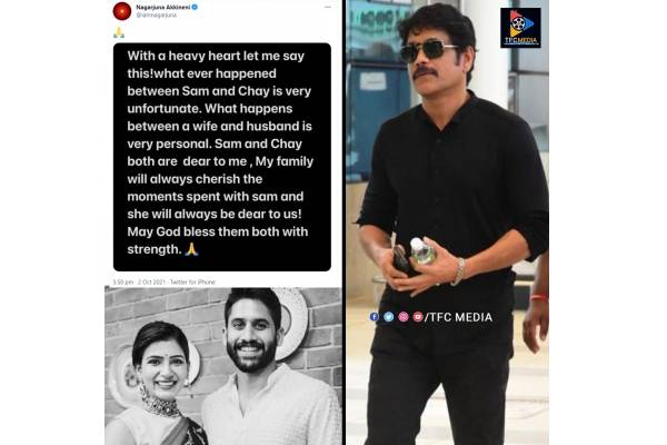 Tollywood's dream couple Chay-Sam announce separation; Nagarjuna reacts with sweet note